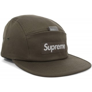 FW18 Supreme Reflective Tab Pocket Camp Cap Olive