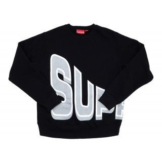 FW18 Supreme Side Arc Crewneck Black