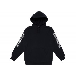 FW18 Supreme Sleeve Arc Hooded Sweatshirt Black