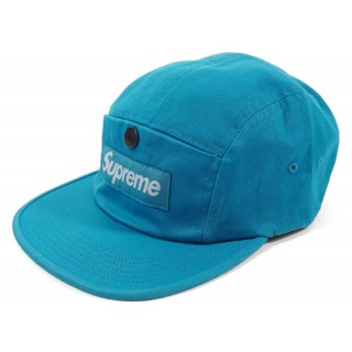 FW18 Supreme Snap Button Pocket Camp Cap Teal