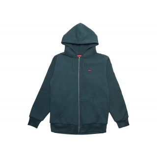 FW18 Supreme Small Box Thermal Zip Up Hoodie Slate