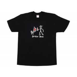 FW18 Supreme Spitfire Cat T-Shirt Black