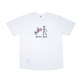 FW18 Supreme Spitfire Cat T-Shirt White