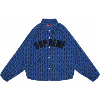 FW18 Supreme Snap Front Twill Jacket Blue