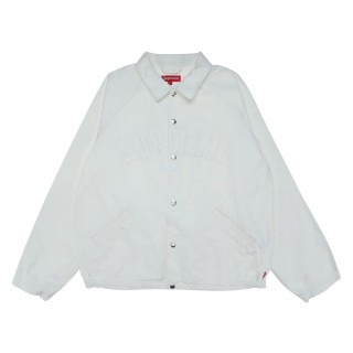 FW18 Supreme Snap Front Twill Jacket White