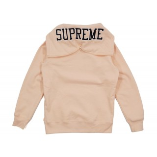 FW18 Supreme Split Hood Zip Up Sweat Peach