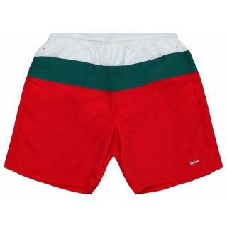 FW18 Supreme Split Logo Water Short Red