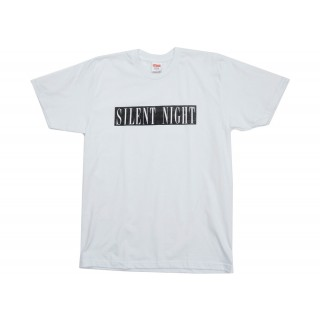 FW18 Supreme Silent Night Tee White