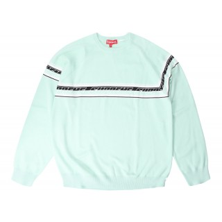 FW18 Supreme Striped Raglan Sweater Mint