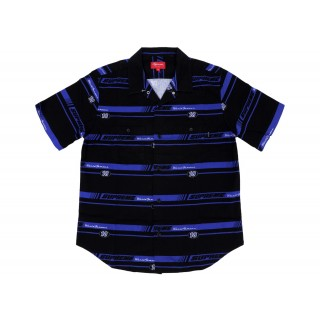 FW18 Supreme Striped Racing Work Shirt Black