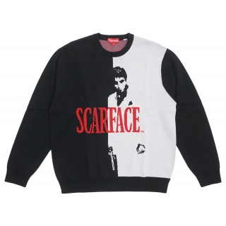 FW18 Supreme Scarface Sweater Black