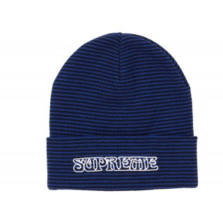FW18 Supreme Small Stripe Beanie Royal