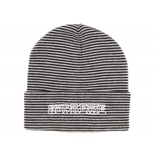 FW18 Supreme Small Stripe Beanie White