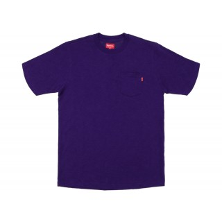 FW18 Supreme S/S Pocket Tee Heather Dark Purple
