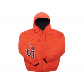 FW18 Supreme Sleeve Script Sideline Jacket Orange