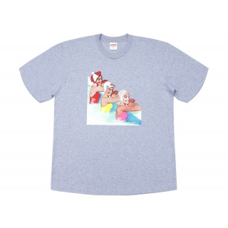 FW18 Supreme Swimmers Tee Heather Grey
