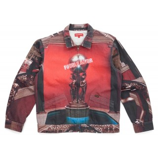 FW18 Supreme Scarface the World Is Yours Denim Jacket Multi