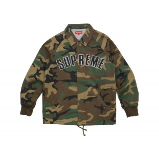 FW18 Supreme Twill Coaches Jacket Camo