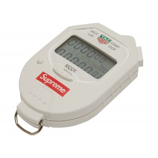 FW18 Supreme Tag Heuer Pocket Pro Stopwatch White