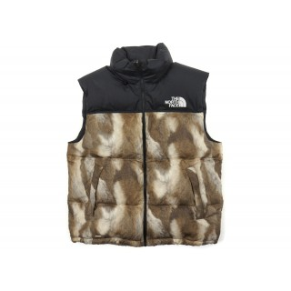 FW18 Supreme The North Face Fur Print Nuptse Brown