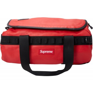 FW18 Supreme The North Face Leather Base Camp Duffel Red