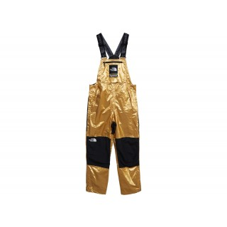 FW18 Supreme The North Face Metallic Mountain Bib Pants Gold