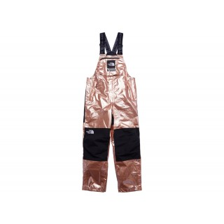 FW18 Supreme The North Face Metallic Mountain Bib Pants Rose Gold