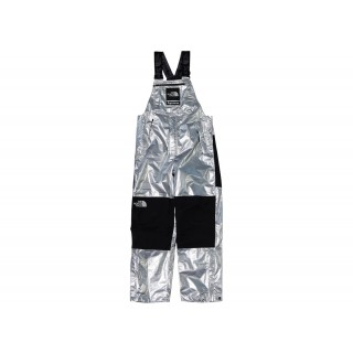 FW18 Supreme The North Face Metallic Mountain Bib Pants Silver
