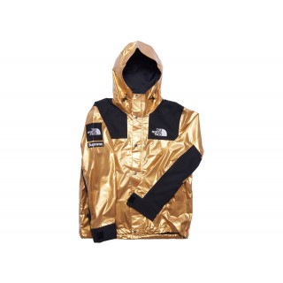 FW18 Supreme The North Face Metallic Mountain Parka Gold