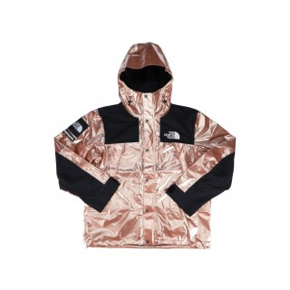 FW18 Supreme The North Face Metallic Mountain Parka Rose Gold