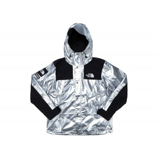 FW18 Supreme The North Face Metallic Mountain Parka Silver