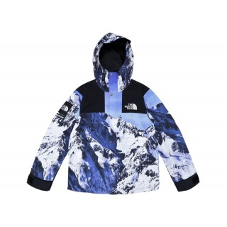 FW18 Supreme The North Face Mountain Parka Blue/White