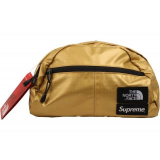FW18 Supreme The North Face Metallic Roo II Lumbar Pack Gold