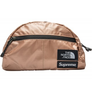 FW18 Supreme The North Face Metallic Roo II Lumbar Pack Rose Gold