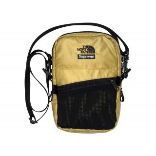 FW18 Supreme The North Face Metallic Shoulder Bag Gold