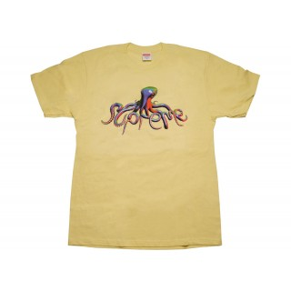 FW18 Supreme Tentacles Tee Pale Yellow