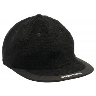 FW18 Supreme Terry Visor Logo 6-Panel Black