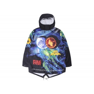 FW18 Supreme UNDERCOVER/Public Enemy Taped Seam Parka Multi