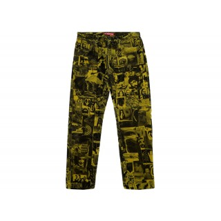 FW18 Supreme Vibrations Corduroy Pant Yellow