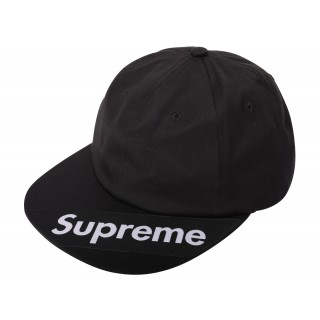 FW18 Supreme Visor Label 6-Panel Black