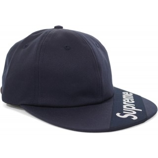 FW18 Supreme Visor Label 6-Panel Navy