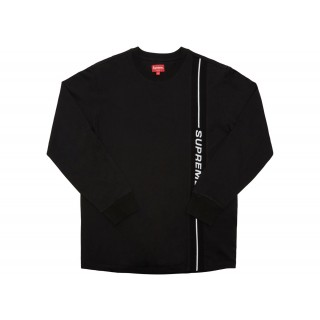 FW18 Supreme Vertical Logo Stripe L/S Top Black