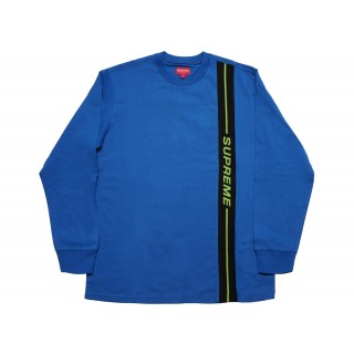 FW18 Supreme Vertical Logo Stripe L/S Top Royal