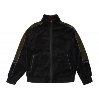 FW18 Supreme Velour Track Jacket Black