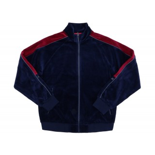 FW18 Supreme Velour Track Jacket Navy