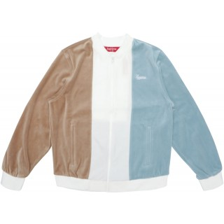 FW18 Supreme Velour Zip Up Jacket Tan