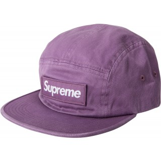 FW18 Supreme Washed Chino Twill Camp Cap (FW18) Dark Lilac