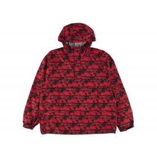 FW18 Supreme World Famous Taped Seam Hooded Pullover Pullover Red
