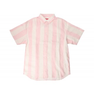 FW18 Supreme Wide Stripe Shirt Pink