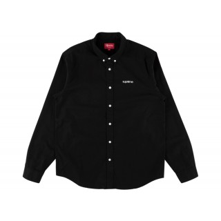 FW18 Supreme Washed Twill Shirt Black